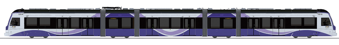 Purple Line Train Side