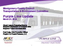 Preview of Purple Line Update – March 21, 2019
