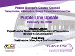 Preview of Purple Line Update – February 28, 2019
