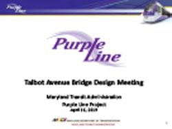 Preview of Talbot Avenue Bridge Design Presentation